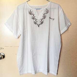 White Boracay beach shirt