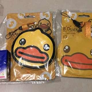 全新B.Duck掛頸八達通袋/小銀包