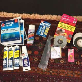 Assorted home fix items