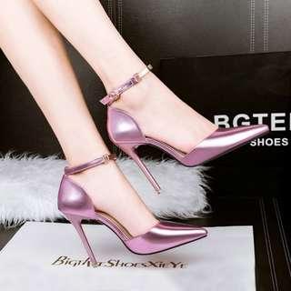 Painted satin elegant heels [34-39]
