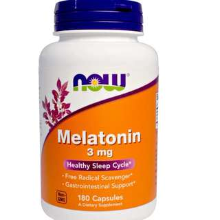 (USGMP) NWF068 NOW Foods Melatonin 褪黑素片 腦白金 180粒 3mg