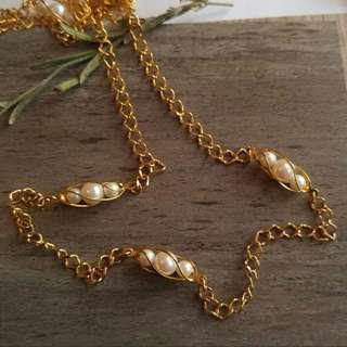 現貨美國二手Vintage 珍珠長項鍊