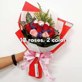 12 roses bouquet for Valentine's Day