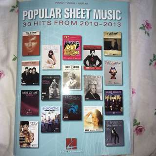 piano song book for pop song hits