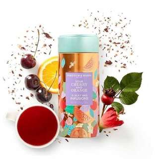 🚚 Fortnum&Mason英國皇室茶品-酸櫻桃和橙汁輸液錫,37.5g(15袋)~現貨