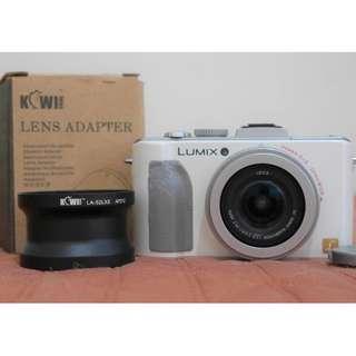 Panasonic Lumix LX5 with Kiwi Lens Adapter -Canon Nikon Olympus LX7 GX8