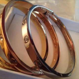 Cartier love bracelets stainless steel 3 colours available