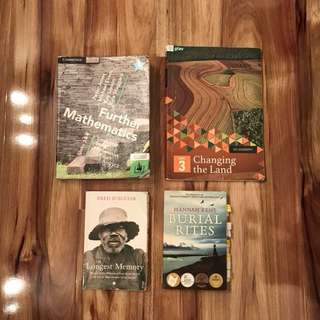 VCE Year 12 Textbooks - Maths, English, Geography