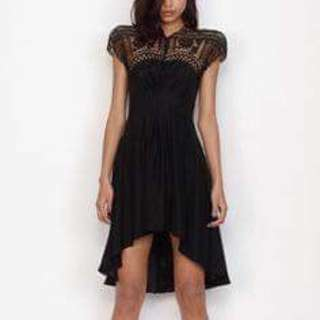 Lover the Label Black silk and lace dress - size 6