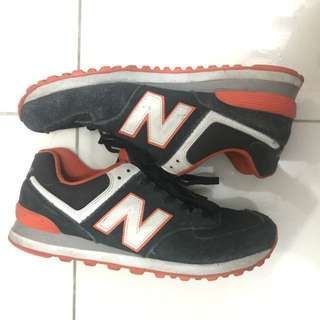 New Balance 574 Black and Orange