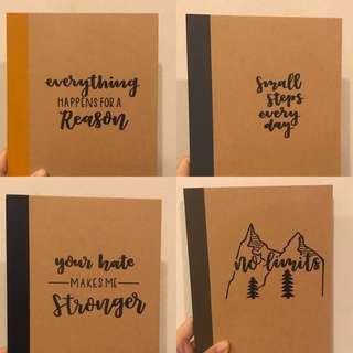 Notebooks with quote