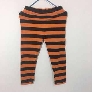 Black Orange Striped Bottom