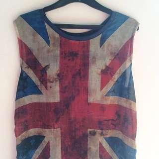 ZARA Union Jack Top