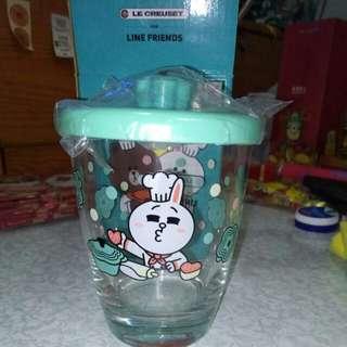 7-11 Line Friends ~ CONY 花形鍋連蓋玻璃杯