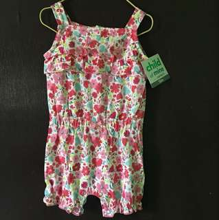 Carters Pink Floral Jumpsuits