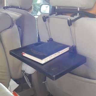 Meja lipat serba guna di dlm mobil
