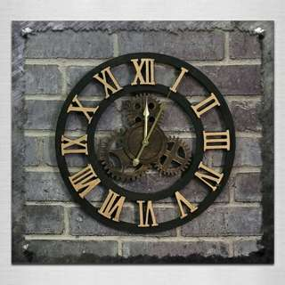 American Vintage Style Gear Wall clock (Roman Numerals)