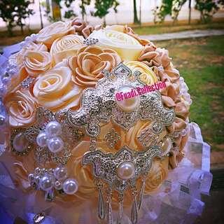Hand made satin bouquet