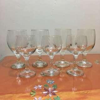 Assorted wine glass