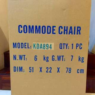 Foldable commode chair for People with disability . Price negotiable