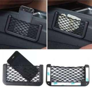 Car seat side pocket organizer/storage net