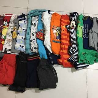 Preloved toddler boy clothes 9-12 mths