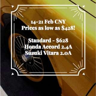 FLASH SALE CNY 2018 12-14 Feb $428 onwards!