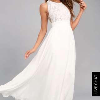 White Maxi Dress in sz M