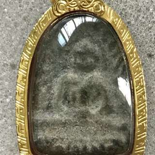 Phra Thung Seti (Somkor)  Buddha of Fortune. With Thai Gold casing