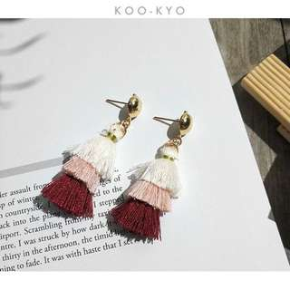 Triple Layer Tassel Earrings