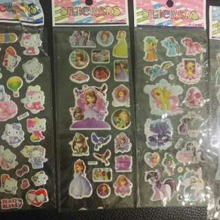 Stickers- 4 Sheets @ $1.50