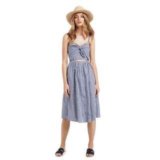 SEED HERITAGE peek-a-boo blue gingham dress (Sz 6)