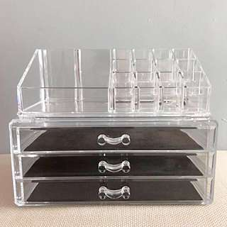 Acrylic High Quality Cosmetic Organizer Jewellery Compartments Lipstick Storage Box