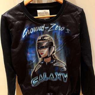 (Used) Ground Zero Black Galaxy Top