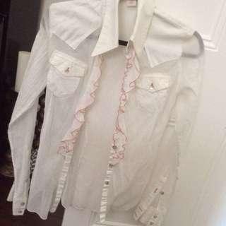 Nolita De Nimes 100 % cotton ruffled shirt made in Italy