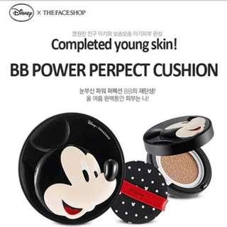 清貨特價 The Face Shop x Disney Power Perfection BB Cushion 完美能量氣墊BB粉底 Mickey V201 包郵