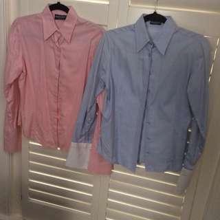 2 Herringbone shirts