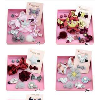Baby Girl Hair Accessories Clips set