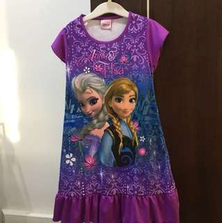 Frozen Anna Elsa night dress