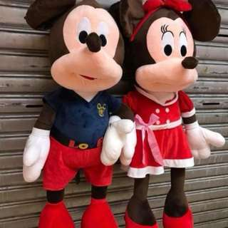 Mickey mouse&mini mouse 36inches & Pooh 5ft