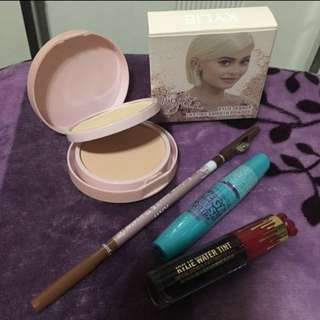 Make up bundle !!! Dual pressed powder, lip and cheek tint, eyebrow pencil, maybelline maskara