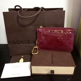 Amarante Louis Vuitton authentic key pouch