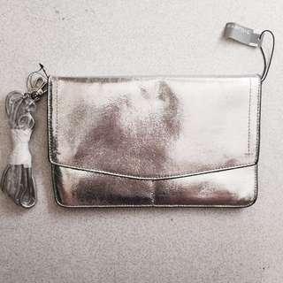 Parfois Silver Sling Bag