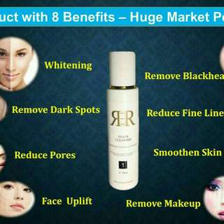 R3R cleanser, toner... Swiss apple stem cells