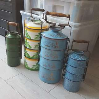 Vintage tiffin carriers / tengkat on SALE!!