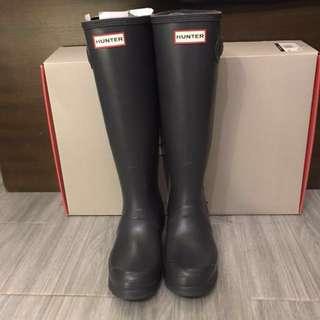 Hunter高筒雨靴(深灰)