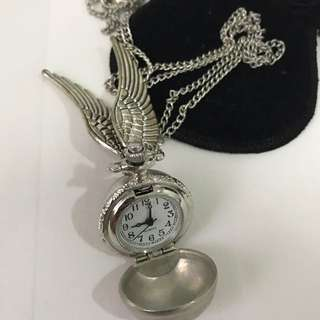 Harry potter inspired clock necklace