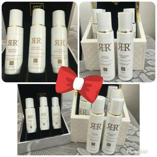 R3R multi-purposes cleanser S$73, toner, moisturizer, renewal essence, sunscreen