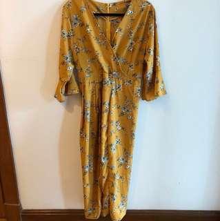 Yellow Flowery Dress #CNY88