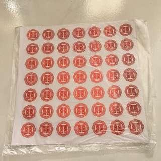 Double Xi Sticker